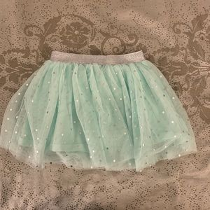 Carter's Aqua and Silver Shimmering Tulle Skirt